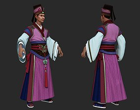3D asset Ancient Chinese officials businessman Landlord 1