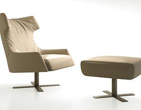 Busnelli Grace swivel armchair 3D