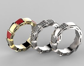 3D print model No50 Bvlgari Serpenti band ring