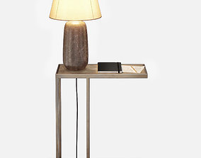 3D Kathy Kuo - Brass Side Table