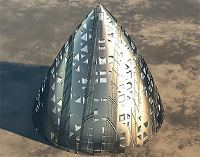 3D Alien Spaceship or Building model