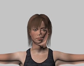 athletic woman animated 3D model