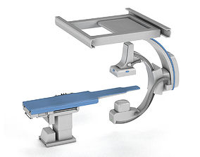 3D model C-Arm System with Table Toshiba Infinix i Core