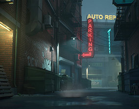 3D asset Downtown Alley