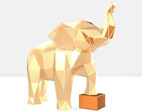 3D printable model Polygonal Elephant kid Parametric