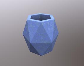 3D asset Polygonal Vase