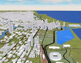 3D model Chicago City USA
