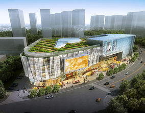 detail 3D City Shopping Mall