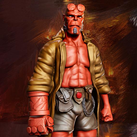 Hellboy Miniature 3D Print