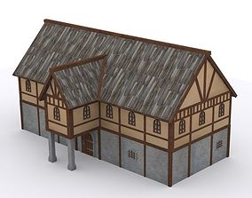 Medieval Village House 2 3D asset