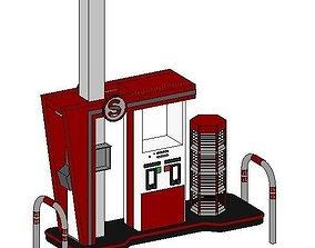 gas station pump 3D print model