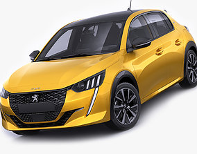 Peugeot 208 2020 3D model