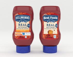 Best Food Real Ketchup 3D model