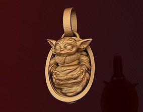 3D printable model Star Wars Mandalorian Baby Yoda Fan