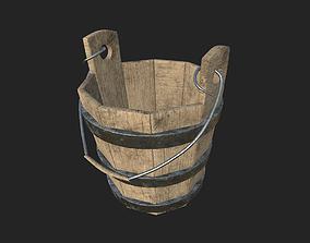 3D asset realtime Wooden Farm Bucket