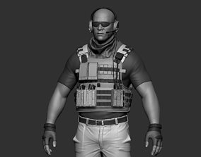 Soldier 3D print model bulletproof