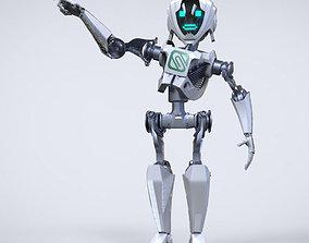 3D Robot cartoon character