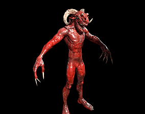 animated Infernal demon low-poly 3D model