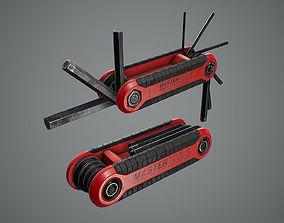 3D model game-ready Hex Key Set