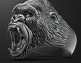 ring head of a gorilla 3D print model