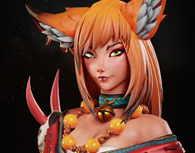 3D model animated Kyoko - Game Ready Character