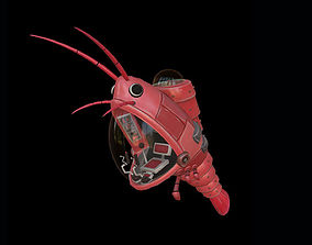 Mechanical Shrimp 3D model