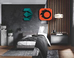 Dark Bedroom - 3D Scene Download