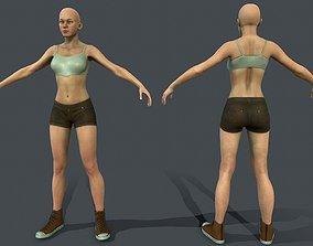 3D asset Female base model Game ready