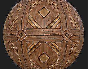 3D asset game-ready Wooden floor
