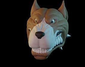 3D print model chemistry dog head
