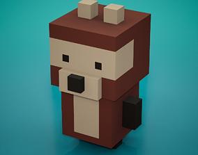 Voxel - Bear 3D model