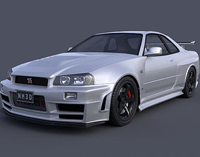 3D Nissan Skyline GTR R34 Nismo Z-Tune Limited Edition