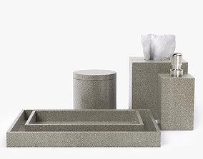 Restoration Hardware Shagreen Bath Accessories 3D model
