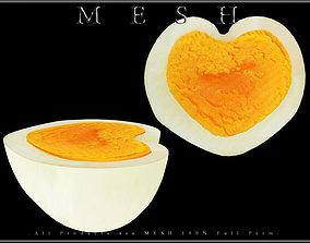 Half of Heart Egg 3D model