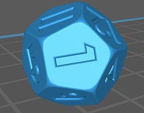 Dice 12 faces 3D asset