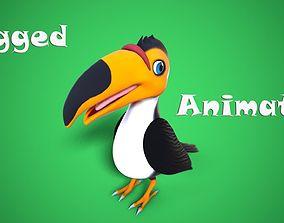 3D model cartoon toucan