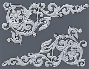 Classic baroque onlay corner element 002 3D print model