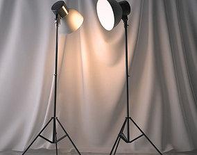 Photo studio floodlight 3D