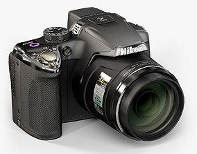 3D asset Nikon Coolpix P510 bridge digital camera