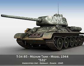 3D T-34 85 - Soviet medium tank - 532