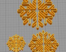 Cookie Cutter Snowflake Copo de 3D printable model 1