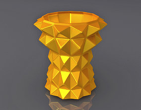 Triangulation Vase Geometric Shape 3D Print Model