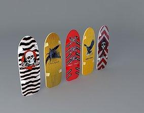 3D 80s Powell Peralta skateboard decks