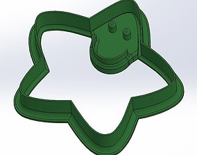 3D printable model Happy star cookie cutter