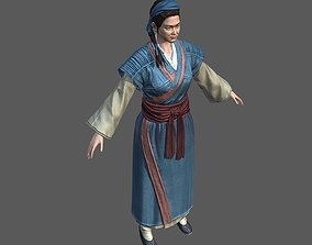 Women in Ancient China Chinese ancient costumes 3D asset