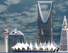 3D Riyadh Skyscrapers