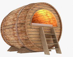 3D asset barrel bed
