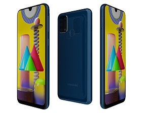 3D model Samsung Galaxy M31 Blue