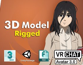 3D rigged Pieck SNK VRChat Avatar PC