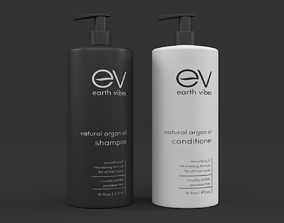 3D model Earth Vibes Natural Argan Oil Shampoo and